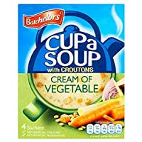 Batchelors Cup a Soup with Croutons Cream of Vegetable (4 per pack - 120g) Batchelorsカップ野菜のクルトンクリームスープ(パックあたり4 - 120グラム)
