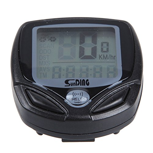 Tinksky SD-548C portátil impermeable multifuncional digital LCD velocímetro cuentakilómetros inalámbrico de ordenador...