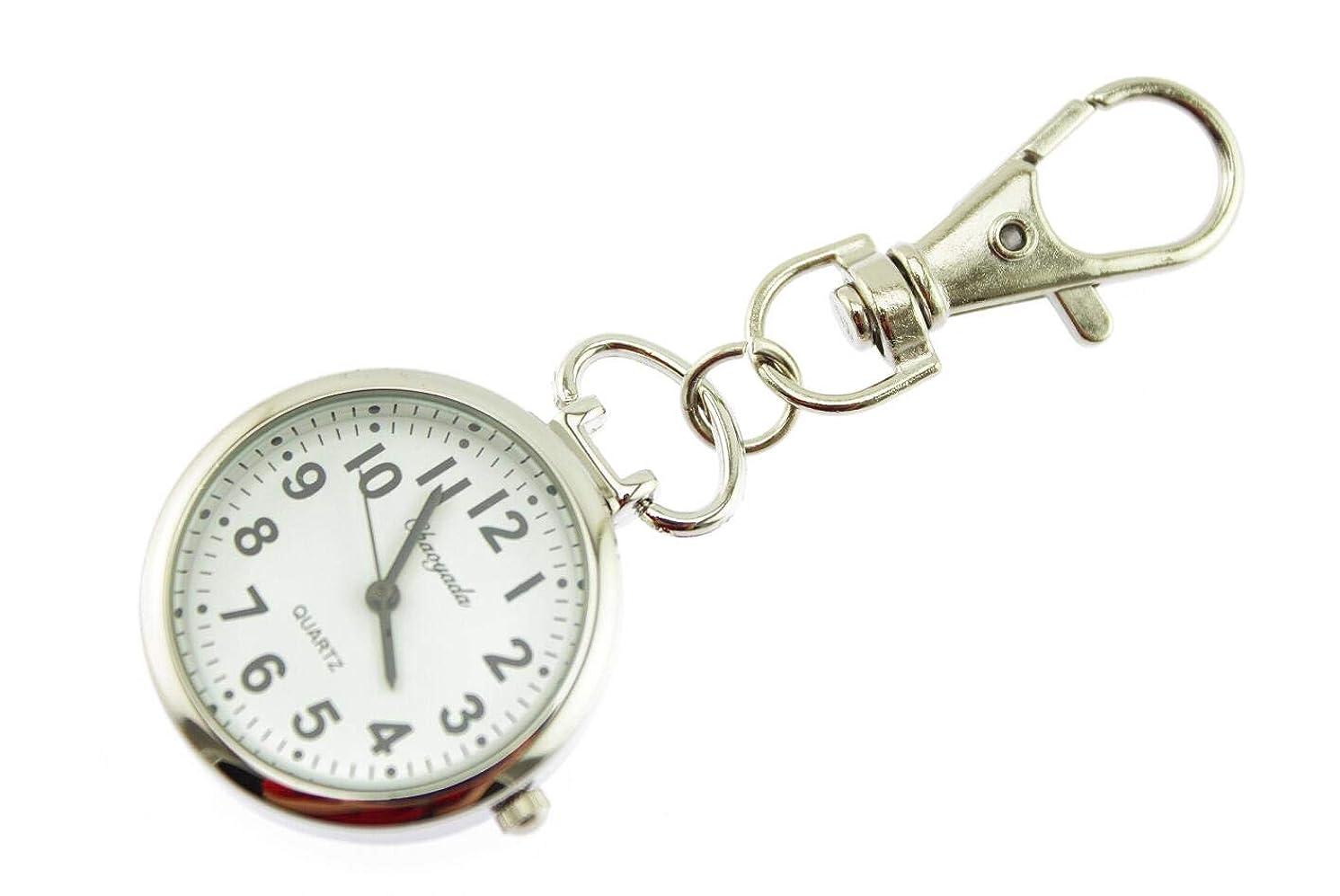 不定飲料日の出Olive-G 小さな キーホルダー ウォッチ 見やすい 針 の かわいい 時計 キーチェーン キーリング (1個)