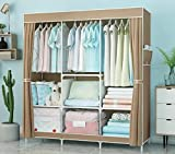 Lmz Armario de tela simple armario moderno minimalista montaje armario plegable armario grande armario