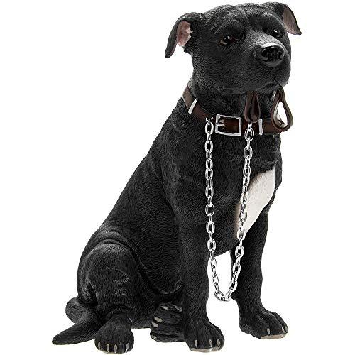 Leonardo Black Staffordshire Bull Terrier Walkies ornament figurine
