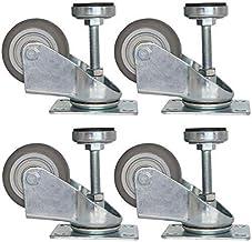 4X zwenkwielen, 2,5/3 / 4in nivellerende machine zwenkwielen, vrije hoogte-instelling, laag geluidsniveau, slijtvastheid, ...