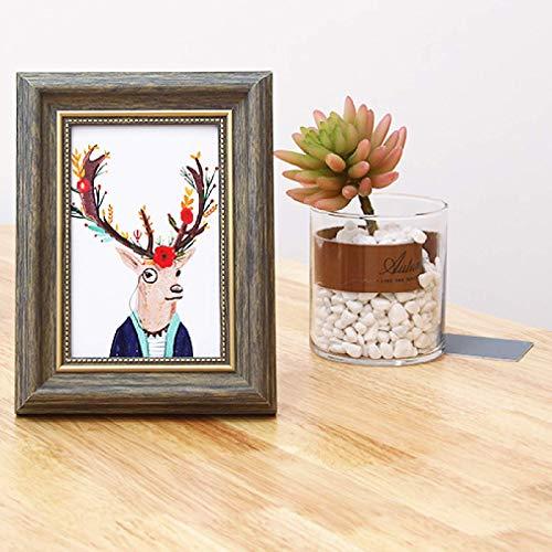 DHHY Conjunto Creativo Marco De Fotos Retro Rectangular PVC Decorativo Marco De Fotos De Varios Tamaños 1 Uds 31.4cm*25cm