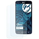 Bruni Schutzfolie kompatibel mit LG L90 Folie, glasklare Bildschirmschutzfolie (2X)