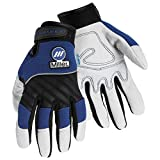 Miller Electric Metal Working Gloves - Large, Black and Blue (251067)