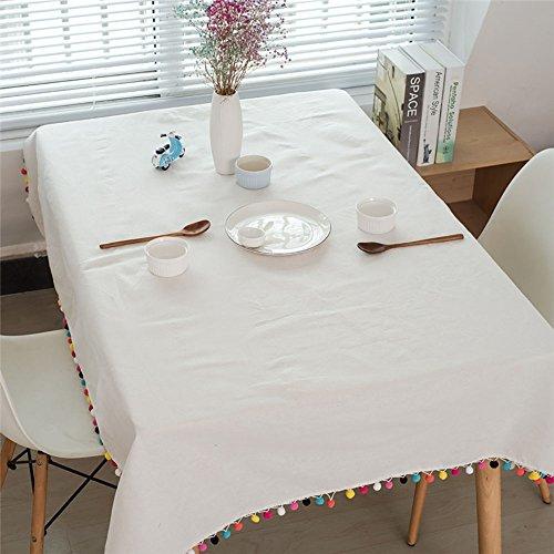 Pingenaneer Manteles Mesa Rectangular - Mantel Antimanchas Blancos - Del Medio Ambiente Conveniente para La Tabla de Cena de la Familia, Tienda De Café, Restaurante Del Hotel (140X250CM)