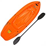 Perfect for kids ages 5 and up, or up to 130 lbs. Molded finger handles on each side for easy transport; Only weighs 18 lbs. Sloped back end and swim-up step allow rider to easily re-enter kayak from the water Multiple Footrest Positions for Differen...