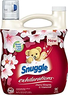 Snuggle Exhilarations Concentrated Fabric Softener Liquid, Cherry Blossom Charm, 96 Fluid Ounce by Snuggle