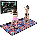 LSWY Inglés Menú 11 MM Espesor Doble Dance Pad Al Pad Yoga Mat + 2 Control Remote Sense Game para PC & TV (Color : Purple)