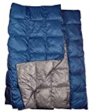 The Big Blue Mtn Lightweight Puffy Camping Blanket for Camping Hiking Backpacking Stadium Travel with Stuff...