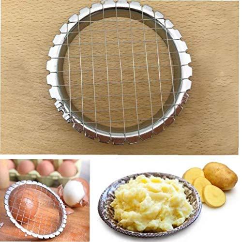 Angoter Edelstahl Eierschneider Cutter Cut Egg Gerät Gitter für Gemüse Salate Kartoffel-Pilz Werkzeuge Chopper für Küchen Chopper
