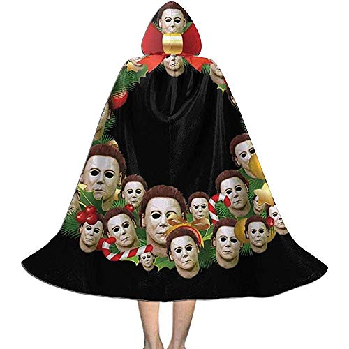 Niet van toepassing Capuchon Cape, Unisex Cosplay Rol Kostuums, Volwassen Robe Mantel, Michael Myers Halloween Multiface Kerst Krans Vampier Mantel, Witch Wizard Mantel, Halloween Party Decoratie Bovenkleding