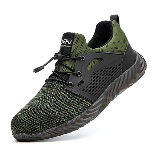 KINOW Industrial Work Trainer Outdoor Safety Shoes Lightweight Sneaker for Hiking