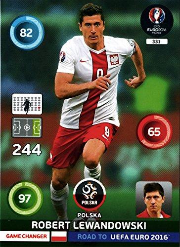 Panini Road to UEFA EM 2016 Sammelkarte: Robert Lewandowski #331 - Game Changer FOIL Neu