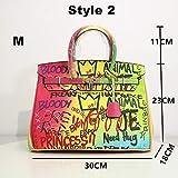 Mdsfe Bolsos de Graffiti de Marca Famosa para Mujeres Bolsos Color Arco Iris Bolsos de Mujer Bolsos de Hombro de diseñador Monederos y Bolsos de Mujer - Style2