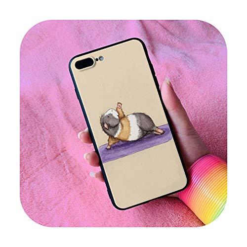 Linda Guinea Pig Yoga Funda para iPhone Oneplus 3 3T 5 5S 5T SE 6 6S 7 8 7T Plus X XS XR Max 11 12 Pro-2-para iPhone SE 2020