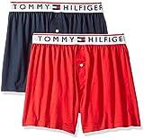 Tommy Hilfiger Men's Underwear Modern Essentials Knit Boxers, Brick/Navy, X-Large