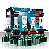 H4 H7 H11 LED del coche LED de la linterna 60W 16000LM H8 H9 9005 9006 conducción tipo antiniebla Lámpara de reproducción y plug-in Tipo de faros antiniebla 6500K (Socket Type : 9005/HB3)