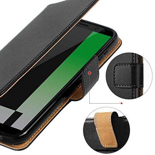 HOOMIL für Huawei Mate 10 Lite Hülle, Handyhülle für Huawei Mate 10 Lite, Premium PU Leder Tasche Flip Schutzhülle für Huawei Mate 10 Lite Smartphone, Schwarz - 5
