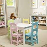 Melissa & Doug Wooden Table & 4 Chairs – Pastel