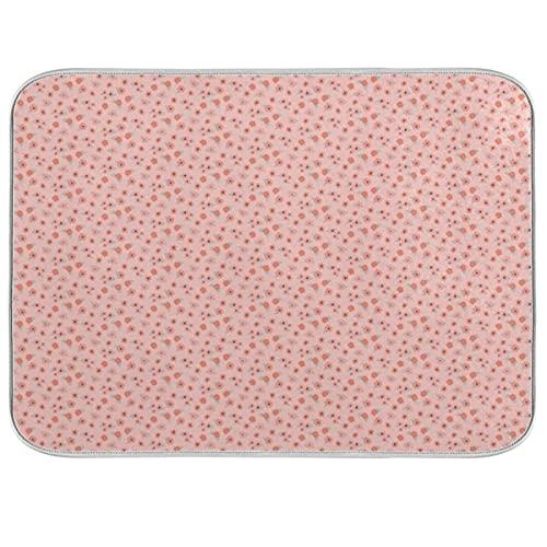 Bright Hoppy Easter Collection - Set di tappetini da cucina in microfibra assorbente, per asciugare piatti, 40,6 x 45,7 cm, colore: Rosa
