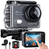 COOAU Action Cam Nativo 4K 60fps 20MP Touch Screen Wi-Fi videocamera...