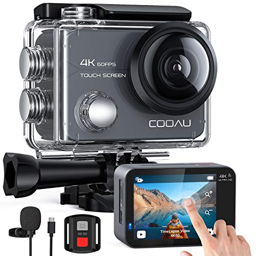 COOAU Action Cam Nativo 4K 60fps 20MP Touch Screen Wi-Fi...