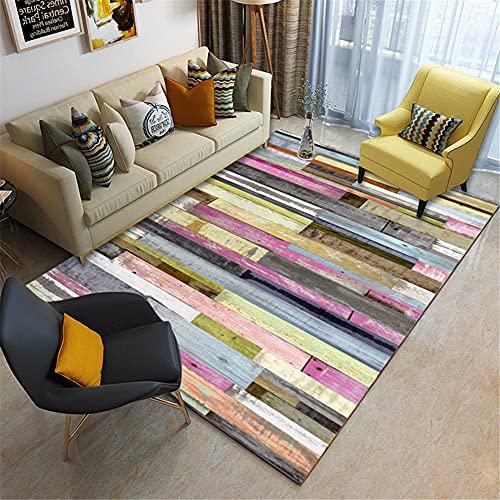 Alfombras alfombras Pasillo Diseño de rectángulo geométrico de Graffiti de Estilo de Tinta Gris Amarillo Rosa Room Decor 160*230cm
