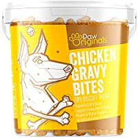 DELICIOUS CHICKEN GRAVY FLAVOUR! – Our chicken gravy bites are great tasting and perfect as a treat or reward. Baked to perfection, great tasting and full of Vitamins & Minerals that your dog will love! NATURAL FLAVOUR & COLOUR – Baked with no artifi...