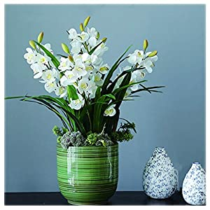 NYKK Decoration Whelan High Artificial Flower Simple Style, Used for Living Room Dining Table Decoration, Fashionable Artificial Flower(Yellow) Table Centrepieces