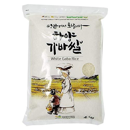 Korean Premium Sprouted White Gaba Rice, 8.8-Pound Pouches (White) 한국 가바쌀