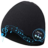Bluetooth Beanie,V5.0 Bluetooth Hat,Wireless Earphone Beanie Headphones, Men/Women Gifts Music Hat Smart Hat Winter Knitting Beanie Cap with Earphones Christmas Electronic Gifts for Men/Women/Mom/Dad