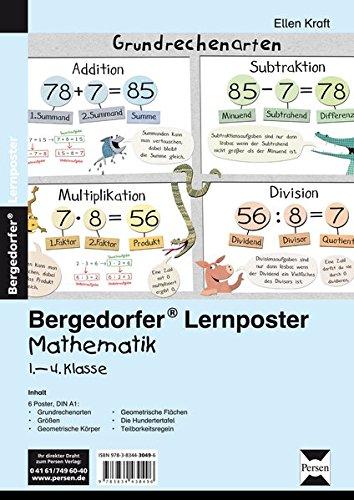 Lernposter Mathematik 1.-4. Klasse: 6 Poster für den Klassenraum (Bergedorfer® Lernposter)