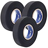 CNCD Wire Harness Automotive ClothTape,High wear Resistance,Heat Resistant Tape,High Temperature Resistance Felt Tape,for Auto Electrical Wrap, Protection, Insulation,Car Engine (3/4in×82FT )3Rolls