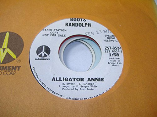 BOOTS RANDOLPH 45 RPM Alligator Annie / Lookin'