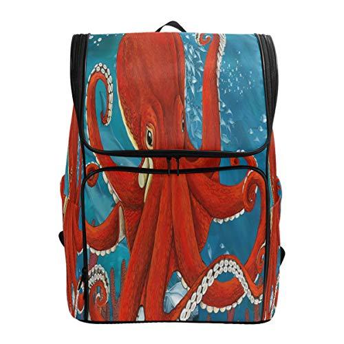 Mnsruu Octopus Ocean Fish Rucksack Daypack Schule Reise Schultertasche