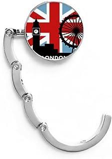 Italy Heart Landmark National Flag Pattern Table Hook Folding Bag Desk Hanger Foldable Holder