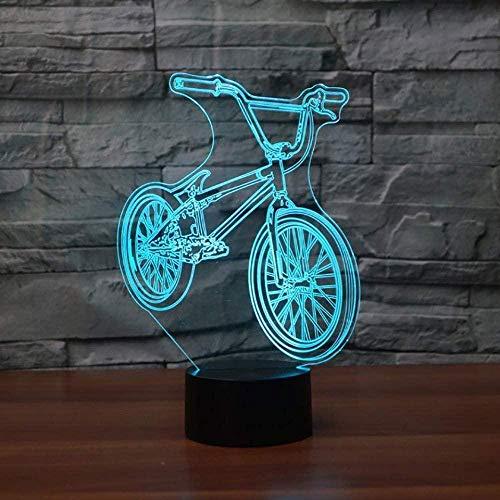 giyiohok 3D LED lit de chevet BMX veilleuse vélo forme USB lampe de Table 7 couleur changeante...