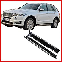 One Pair of Running Boards | Foot Side Steps for 2014-2018 BMW X5 (F15) – OE Style + Aircraft Grade Aluminum (Aluminum Polished Silver)