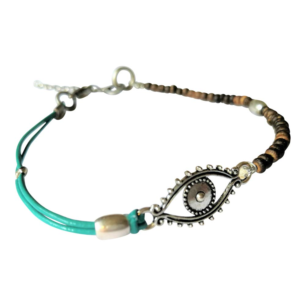 Evil Indianapolis Mall Eye Anklet for Women Bracelet Factory outlet Turquoise Ankle Leather