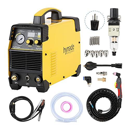 Plasma Cutter, CUT50H 50A Dual Voltage 110/220V, AG60 Torch Plasma cutting machine, Inverter Metal Plasma Cutter Max Cutting Thickness 14mm (CUT50H 110/220V)