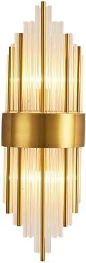 Aoemone Plug In/Wall Appliques Murales Modernes À LED Applique Murale À Couture En Tube De Cristal - Luminaire Mural Intérieu
