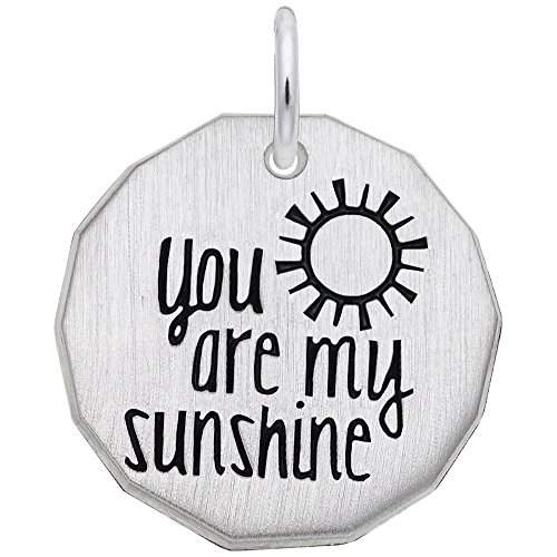 Rembrandt Charms Sterling Silver You are My Sunshine Charm (18 x 18 mm)