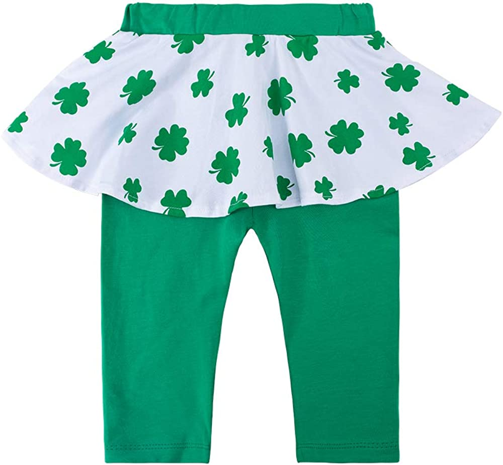 Paddy Field Baby Girls Romper Outfit 1st St Patricks Day Long Sleeve Clothes Green Newborn Dress Bodysuit