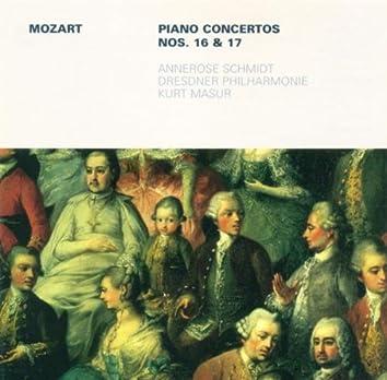 MOZART, W.A.: Piano Concertos Nos. 16 and 17 (Schmidt, Dresden Philharmonic, Masur)