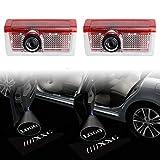 LIUSHI 2 PCS LED Puerta de Coche Decoración Lámpara Logo Luz láser para Mercedes Benz AMG G M B A C GLC GLS GLS GLA E Clase W166 W212 W213 W205 W156 Luces de Bienvenida