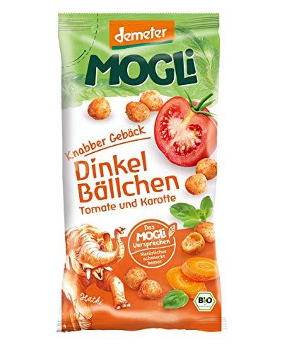 MOGLi Bio Demeter Dinkelbällchen 10er Pack, (10 x 40)(Tomate und Karotte)