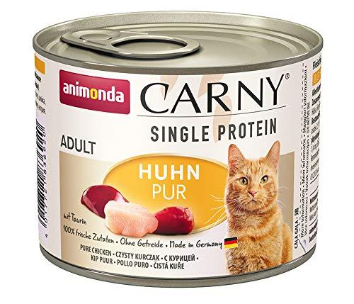 animonda Carny Single Protein adult Katzenfutter, Nassfutter für ausgewachsene Katzen, Huhn Pur, 6 x 200 g