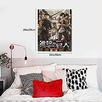 進撃の巨人 墙壁装饰画布 モダン ポスター 装飾画 部屋飾り 壁掛け 新築飾り 贈り物 木枠セット 40x50cm