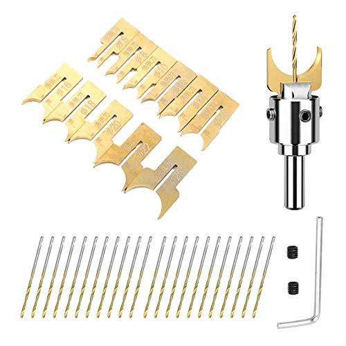 13//16//24Pcs Buddha Beads Drill Bit Bead Maker Wood Milling Woodworking Tool Set